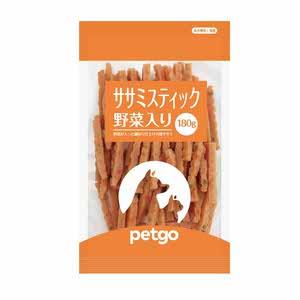 ペットゴー ササミスティック野菜入り 180g【賞味期限切迫】【在庫限り】