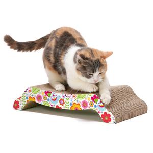 猫壱 バリバリ ベッド M 花柄