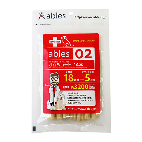 ables(アブレス) 02 マルチ乳酸菌&ビフィズス菌ガム ショート 14本