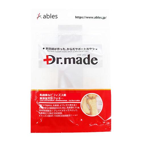 Dr.made(ドクターメイド) 乳酸菌+ビィフィズス菌 無添加米粉クッキー 30g