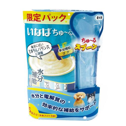 いなば 犬用 ちゅ~る 水分補給 ツナ 4本×5袋セット【限定パック】