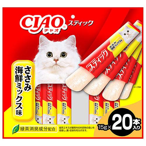 CIAO(チャオ) スティック ささみ 海鮮ミックス味 20本入り