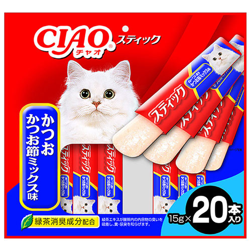 CIAO(チャオ) スティック かつお かつお節ミックス味 20本入り