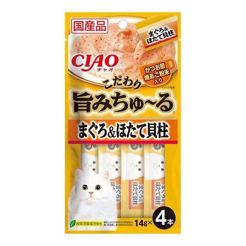 CIAO(チャオ) 旨みちゅ~る まぐろ ほたて貝柱入り 4本入り