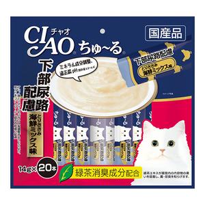 CIAO(チャオ) ちゅ~る 下部尿路配慮 とりささみ 海鮮ミックス味 20本入り
