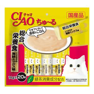 CIAO(チャオ) ちゅ~る 総合栄養食 とりささみ海鮮ミックス味 20本入り
