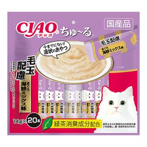CIAO(チャオ) ちゅ~る 毛玉配慮 まぐろ海鮮ミックス味 20本入り