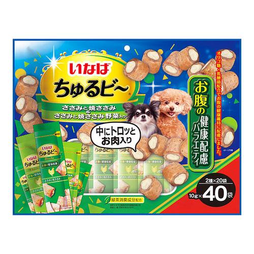 いなば 犬用 ちゅるビ~ お腹の健康配慮バラエティ 40袋入り