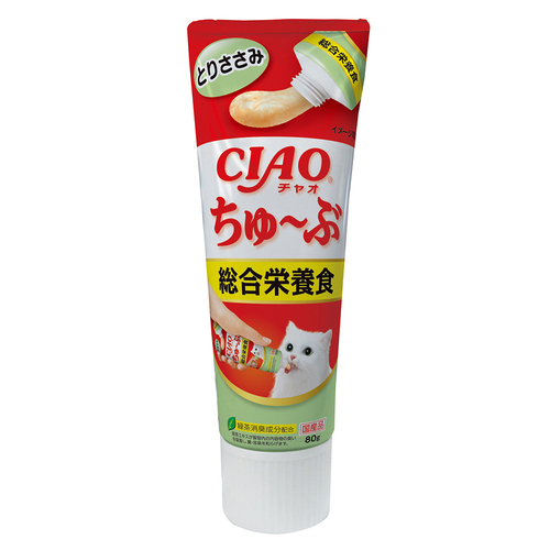 CIAO(チャオ) ちゅ~ぶ 総合栄養食 とりささみ 80g