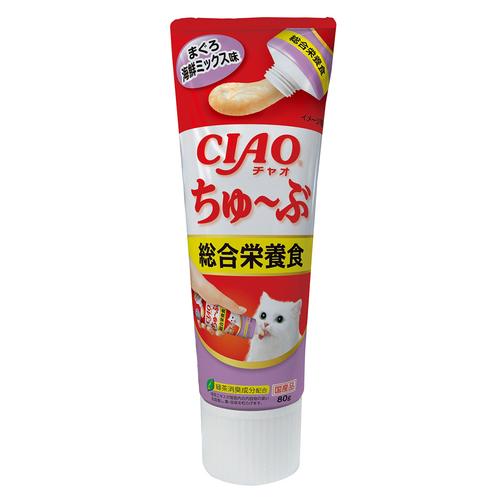 CIAO(チャオ) ちゅ~ぶ 総合栄養食 まぐろ海鮮ミックス味 80g
