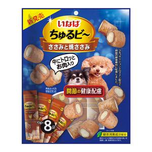 いなば 犬用 ちゅるビ~ ささみと焼ささみ 関節の健康配慮 8袋入り