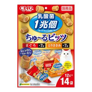 CIAO(チャオ) ちゅ~るビッツ 乳酸菌1兆個バラエティ 12g×14袋