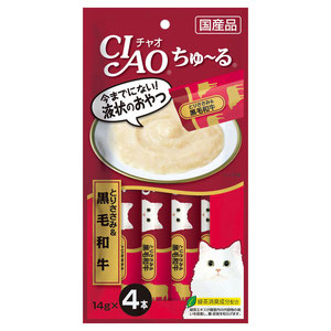 CIAO(チャオ) ちゅ~る とりささみ&和牛 4本入り