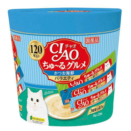 CIAO(チャオ) ちゅ~るグルメ かつお海鮮バラエティ 120本入り