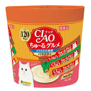 CIAO(チャオ) ちゅ~るグルメ とりささみ海鮮バラエティ 120本入り
