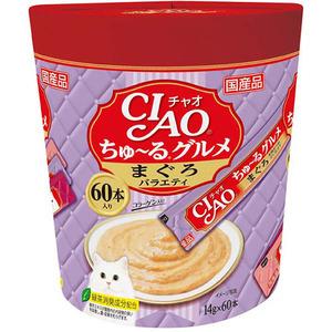 CIAO(チャオ) ちゅ~るグルメ まぐろバラエティ 60本入り