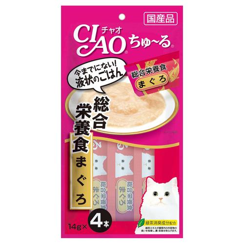 CIAO(チャオ) ちゅ~る 総合栄養食 まぐろ 4本入り