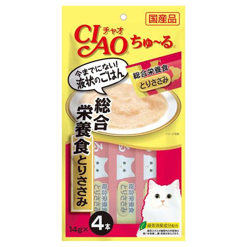 CIAO(チャオ) ちゅ~る 総合栄養食 とりささみ 4本入り