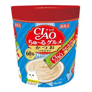 CIAO(チャオ) ちゅ~るグルメ かつおバラエティ 60本入り