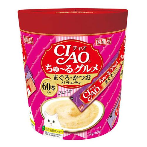 CIAO(チャオ) ちゅ~るグルメ まぐろ・かつおバラエティ 60本入り
