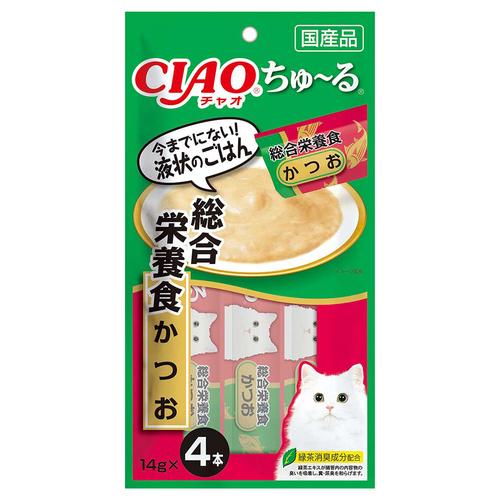 CIAO(チャオ) ちゅ~る 総合栄養食 かつお 4本入り