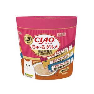 CIAO(チャオ) ちゅ~るグルメ 総合栄養食 まぐろ海鮮ミックス味 120本入り