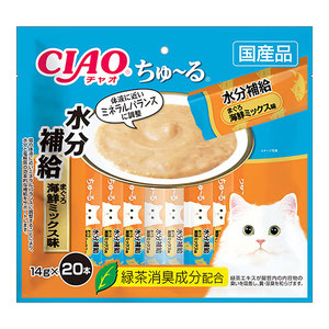 CIAO(チャオ) ちゅ~る 水分補給 まぐろ海鮮ミックス味 20本入り