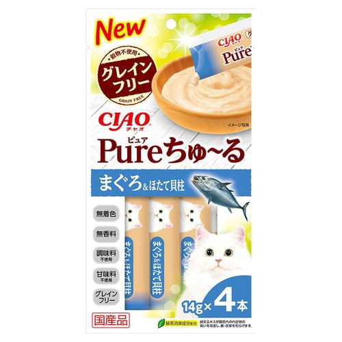 CIAO(チャオ) Pureちゅ〜る まぐろ&ほたて貝柱 4本入り