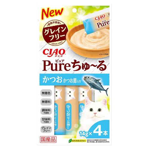 CIAO(チャオ) Pureちゅ〜る かつお かつお節入り 4本入り