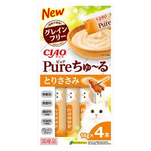 CIAO(チャオ) Pureちゅ~る とりささみ 4本入り