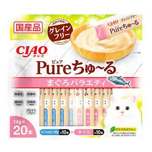 CIAO(チャオ) Pureちゅ~る まぐろバラエティ 20本入り