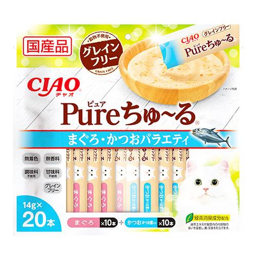 CIAO(チャオ) Pureちゅ~る まぐろ・かつおバラエティ 20本入り
