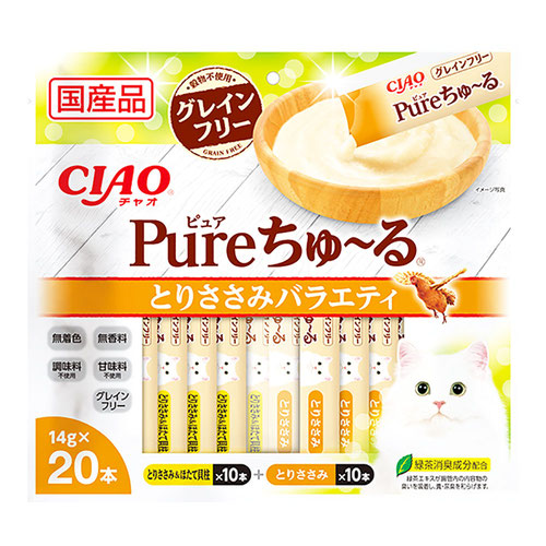 CIAO(チャオ) Pureちゅ~る とりささみバラエティ 20本入り