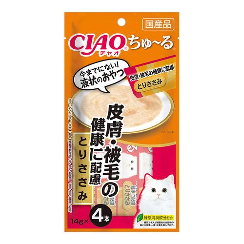 CIAO(チャオ) ちゅ〜る 皮膚・被毛の健康に配慮 とりささみ 4本入り