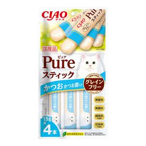 CIAO(チャオ) Pureスティック かつお かつお節入り 4本入り【在庫限り】