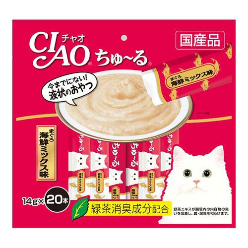 CIAO(チャオ) ちゅ~る まぐろ海鮮ミックス味 20本入り