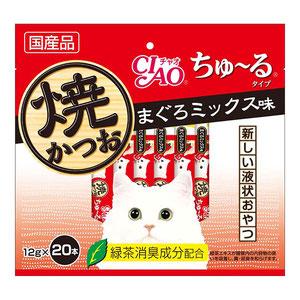 CIAO(チャオ) 焼かつおちゅ~る まぐろミックス味 20本入り