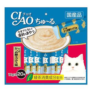CIAO(チャオ) ちゅ~る かつおかつお節ミックス味 20本入り