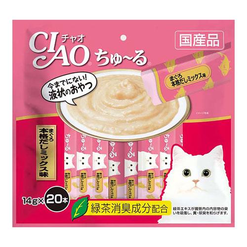 CIAO(チャオ) ちゅ~る まぐろ本格だしミックス味 20本入り