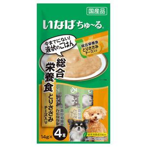 いなば 犬用 ちゅ~る 総合栄養食 とりささみ チーズ入り 4本入り