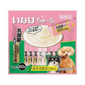 いなば 犬用 ちゅ~る 乳酸菌入り とりささみ チキンミックス味 20本入り