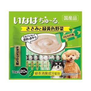 いなば 犬用 ちゅ~る ささみと緑黄色野菜 チキンミックス味 20本入り