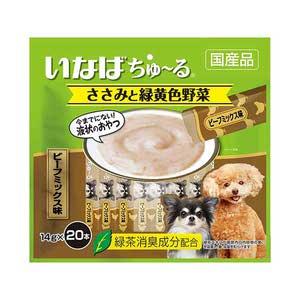 いなば 犬用 ちゅ~る ささみと緑黄色野菜 ビーフミックス味 20本入り