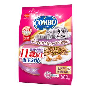 コンボ キャット 毛玉対応11歳以上 かつお味・かつおチップ・かつおぶし添え 600g