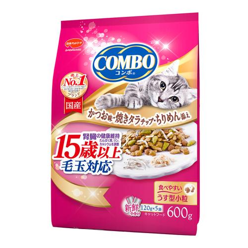 コンボ キャット 毛玉対応15歳以上 かつお味・焼きタラ・ちりめん添え 600g