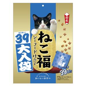 ねこ福 39大入り袋 シーフード味 117g