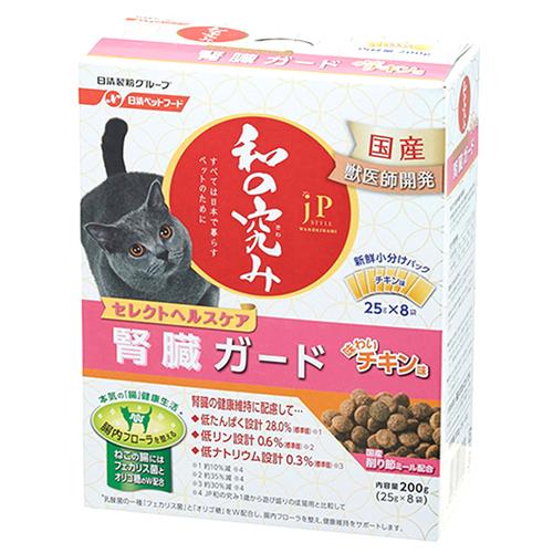 ジェーピースタイル 和の究み 猫用セレクトヘルスケア 腎臓ガード チキン味 200g