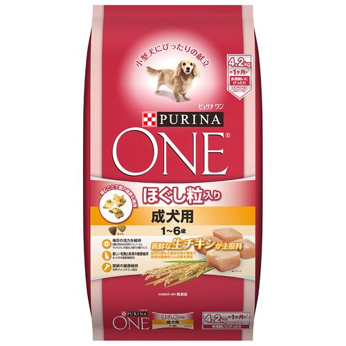ピュリナワン ドッグ ほぐし粒入り 1~6歳成犬用 チキン 4.2kg