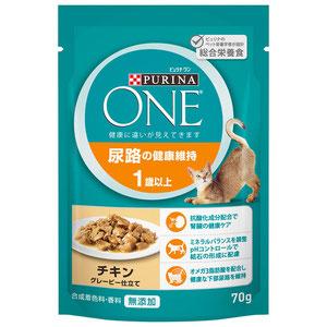 尿路の健康維持 1歳以上 チキン グレービー仕立て 70g×12袋