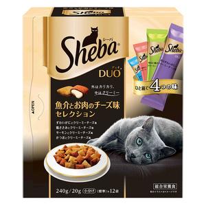 シーバ デュオ 魚介とお肉のチーズ味セレクション 240g